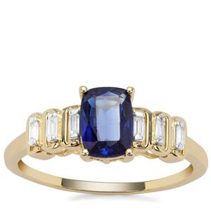 Nilamani Ring with White Zircon in 9K Gold 1.26cts