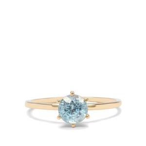 1.41ct Ratanakiri Blue Zircon 9K Gold Ring