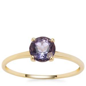Montezuma Blue Quartz Ring in 9K Gold 0.78ct