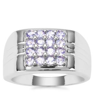 Tanzanite Ring in Sterling Silver 1.28cts
