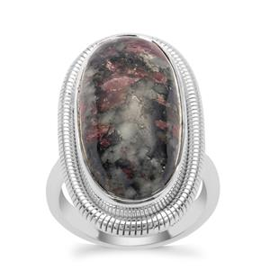Eudialyte Ring in Sterling Silver 13cts