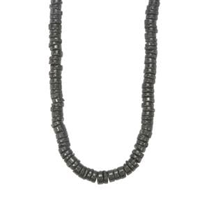 255ct Black Spinel Graduated Bead Necklace