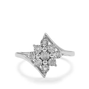 Halo Diamond Sterling Silver Ring
