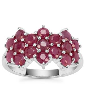 Bangalore Ruby Ring in Sterling Silver 3.07cts