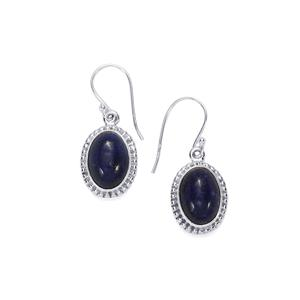 Sar-i-Sang Lapis Lazuli Earrings in Sterling Silver 14cts