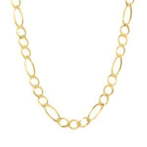 "30"" Midas Couture Diamond Cut Figaro Chain 5.06g"