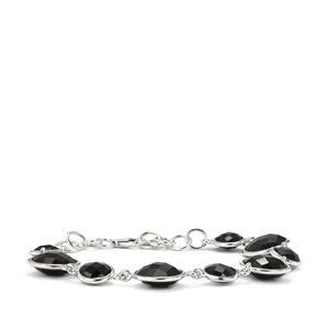 28.90ct Black Onyx Sterling Silver Aryonna Bracelet