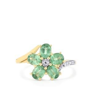 Odisha Kyanite & Diamond 9K Gold Ring ATGW 2.30cts