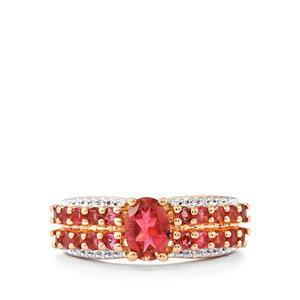 1.59ct Oyo Pink Tourmaline Rose Midas Ring