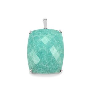 Amazonite Pendant in Sterling Silver 45cts