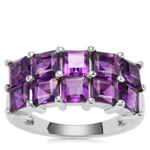 Zambian Amethyst Ring in Sterling Silver 3.50cts
