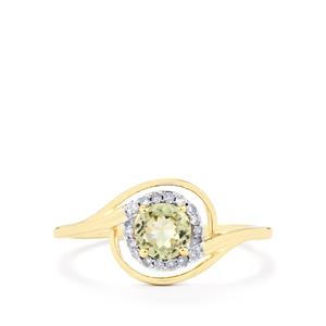 Csarite® Ring with Diamond in 10k Gold 0.64ct