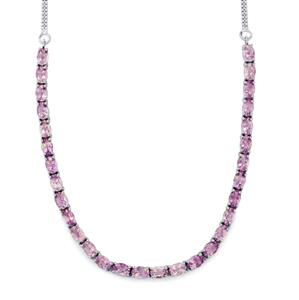 Rose De France Amethyst Necklace in Sterling Silver 12.80cts