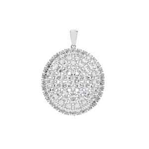 Sokoto Aquamarine Pendant in Sterling Silver 12.38cts