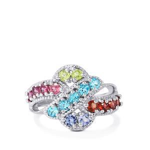 1.73ct Kaleidoscope Gemstone Sterling Silver Ring