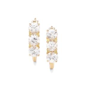 Singida Tanzanian Zircon Earrings with Yellow Sapphire in 9K Gold 5.47cts