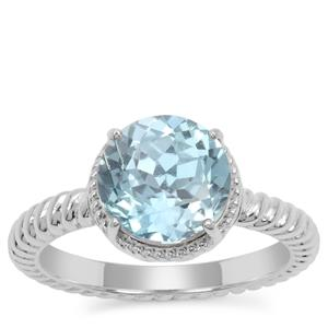 Versailles Topaz Ring in Sterling Silver 3.40cts