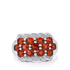 Mozambique Garnet Ring in Sterling Silver 2.88cts
