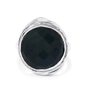 11ct Hawk's Eye Sterling Silver Aryonna Ring