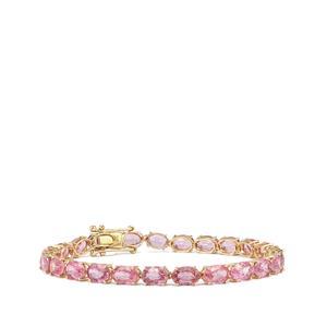 Sakaraha Pink Sapphire Bracelet in 10K Gold 16.81cts