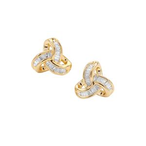 Diamond Earrings in Gold Plated Sterling Silver 0.26ct