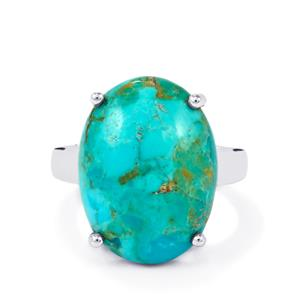 11.29ct Cochise Turquoise Sterling Silver Ring