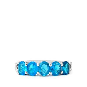 Neon Apatite Ring in Sterling Silver 1.63cts