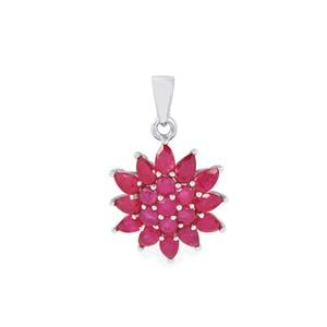Malagasy Ruby Pendant in Sterling Silver 5.28cts (F)