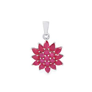 5.28ct Malagasy Ruby Sterling Silver Pendant (F)