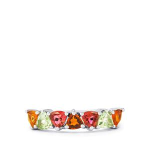 Rainbow Tourmaline Ring in Sterling Silver 1.61cts