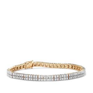 Diamond Bracelet in 9K Gold 4.03cts