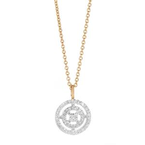 1/8ct Diamond Gold Plated Sterling Silver Necklace