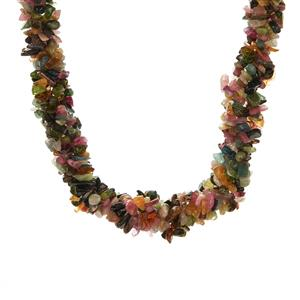 Multi-Colour Tourmaline Necklace in Sterling Silver 402.10cts