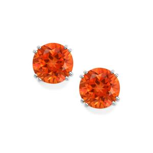 Padparadscha Quartz Earrings in Sterling Silver 7.29cts