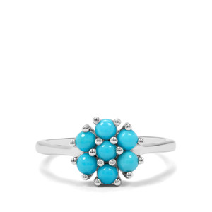0.72ct Sleeping Beauty Turquoise Sterling Silver Ring