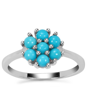 Sleeping Beauty Turquoise Ring in Sterling Silver 0.72ct