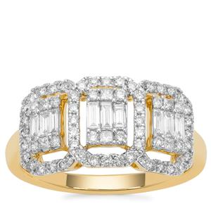 Diamond Ring in 18K Gold 0.77cts