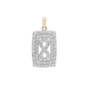 1ct Argyle Diamond 9K Gold Pendant