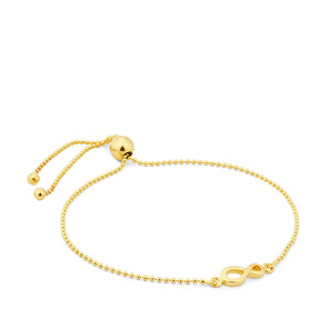 "10"" Midas Altro Slider Infinity Bracelet 2.06g"