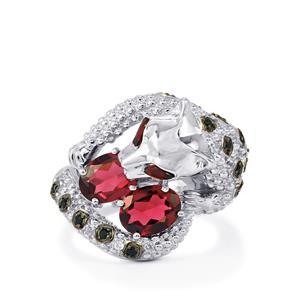 Kaleidoscope Gemstones Tendwa Ring in Sterling Silver 3.33cts