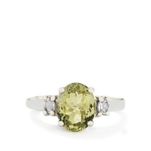 Kerala Sillimanite & White Topaz Sterling Silver Ring ATGW 3.85cts