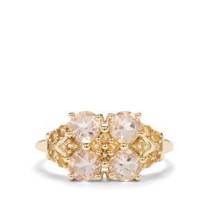 Serenite & Diamantina Citrine 9K Gold Ring ATGW 1.52cts