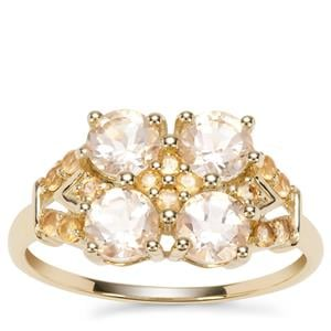 Serenite Ring with Diamantina Citrine in 9K Gold 1.52cts