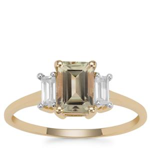 Csarite® Ring with White Zircon in 9K Gold 1.54cts