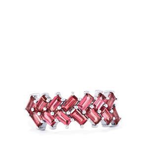 2.08ct Rhodolite Garnet Sterling Silver Ring