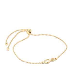 "10"" Midas Altro Slider Infinity Bracelet 1.98g"