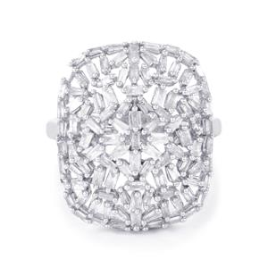 1.05ct Diamond Sterling Silver Ring
