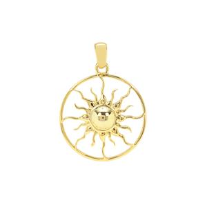 Sun Pendant in Gold Plated Sterling Silver