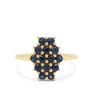 1.12ct Australian Blue Sapphire 9K Gold Ring