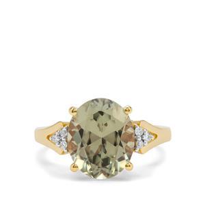 Csarite® & Diamond 18K Gold Ring MTGW 5.42cts